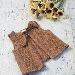 Kids Open Front Wool Vest